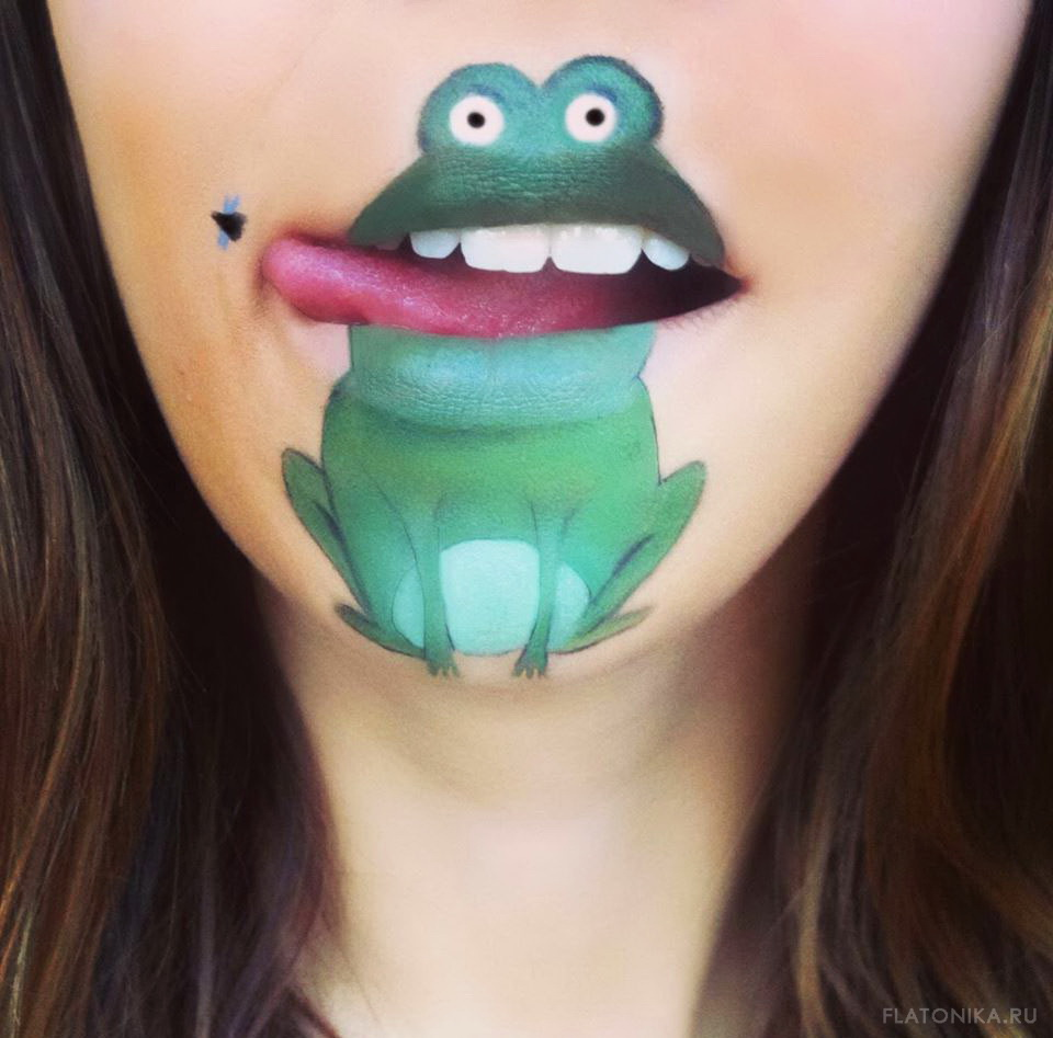 11-lip-painting-frog
